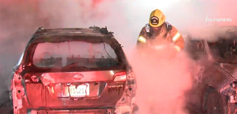 Преступник уничтожил семь машин во время Anime Con