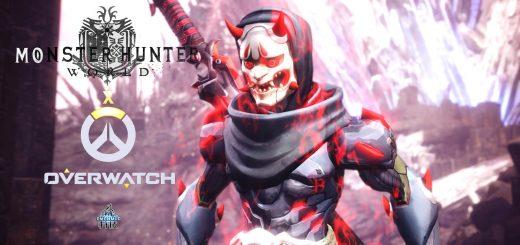 Теперь вы можете убивать монстров, таких как Генджи Байху и Генджи Они из Overwatch в Monster Hunter World