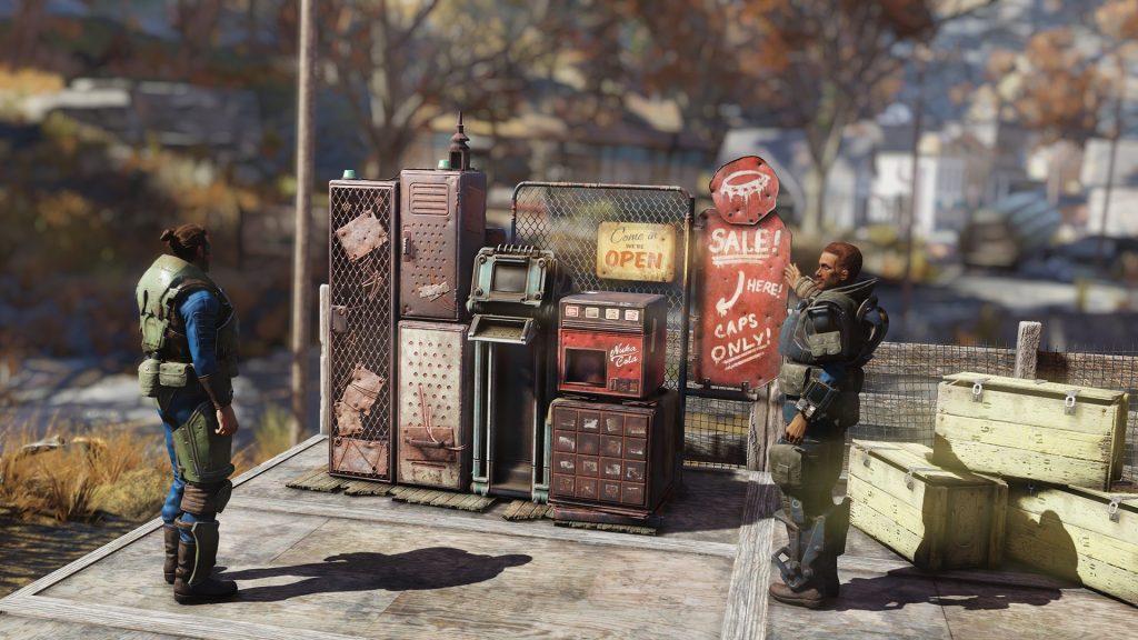 В следующем обновлении к Fallout 76 вы сможете управлять магазином