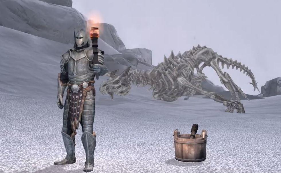 Игрок в Skyrim прошел игру только с факелом