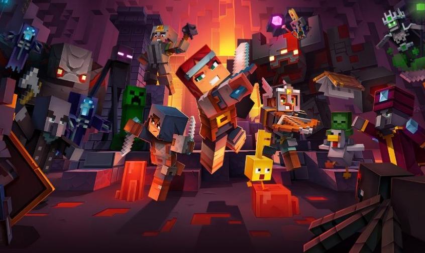 Видео игрового процесса новой экшен-РПГ Minecraft Dungeons