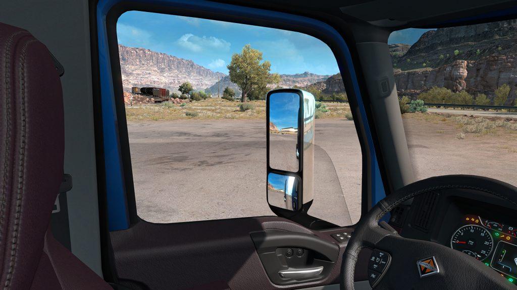 Наконец-то! В American Truck Simulator появились опускающиеся стекла
