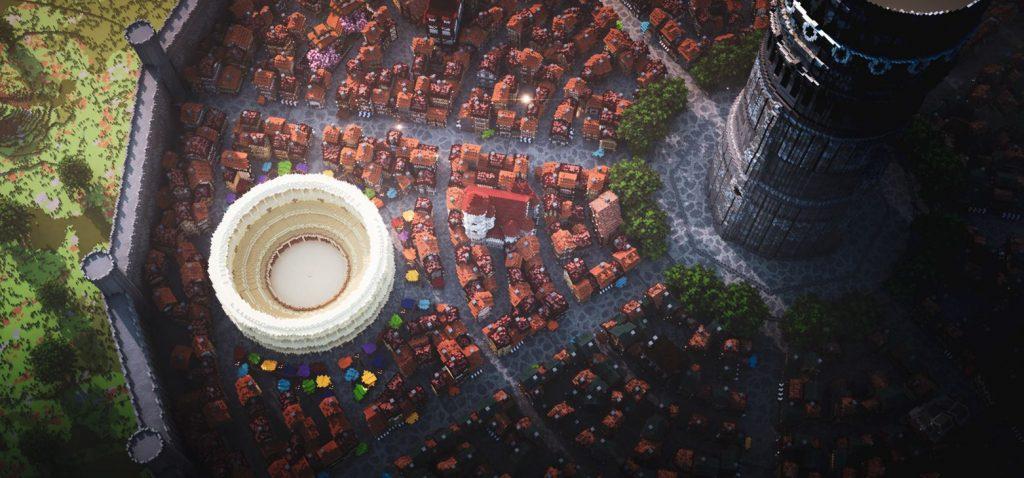 Посмотрите на этот огромный город, созданный профессионалами Minecraft