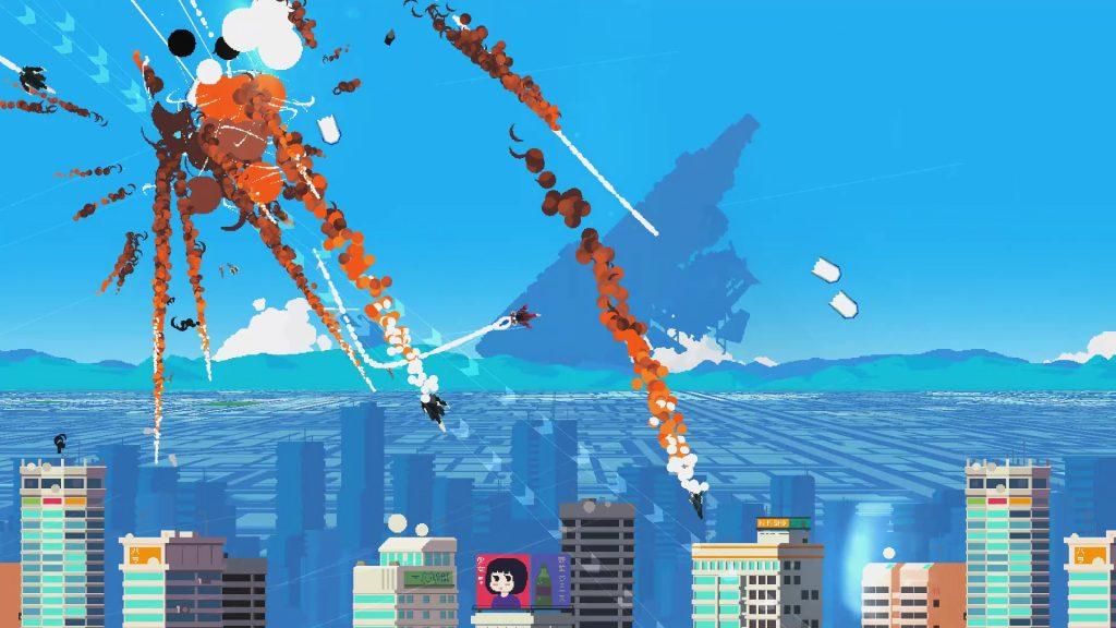 Недавно вышла, похожая на Luftrausers анимированная игра Jet Lancer