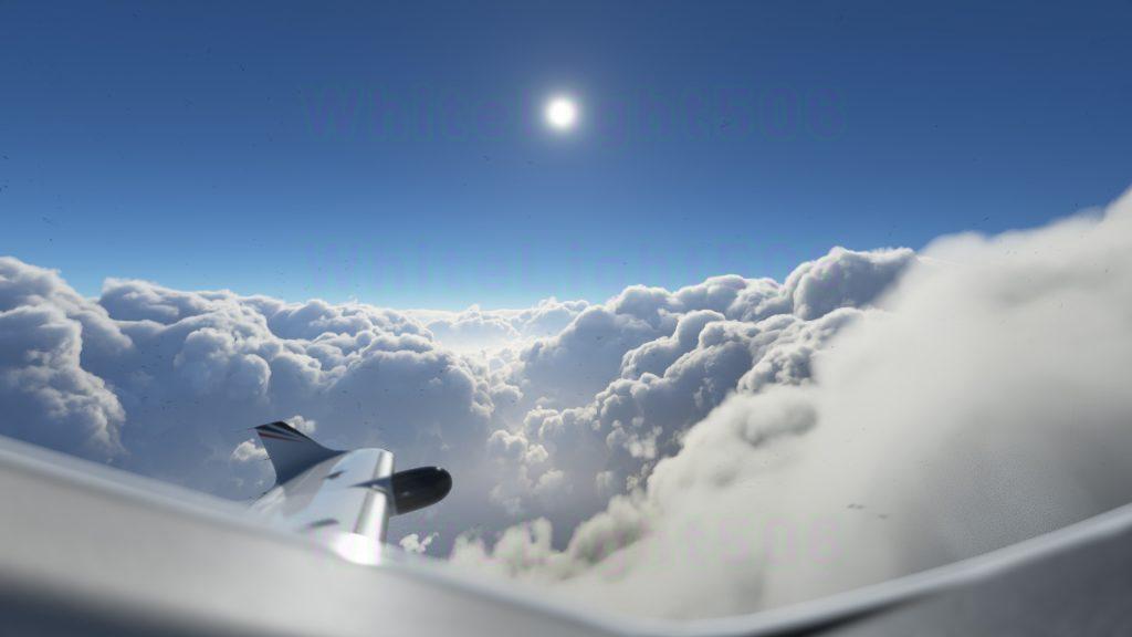 Объемные облака авиасимулятора ошеломляют как в новых изображениях, так и в движении