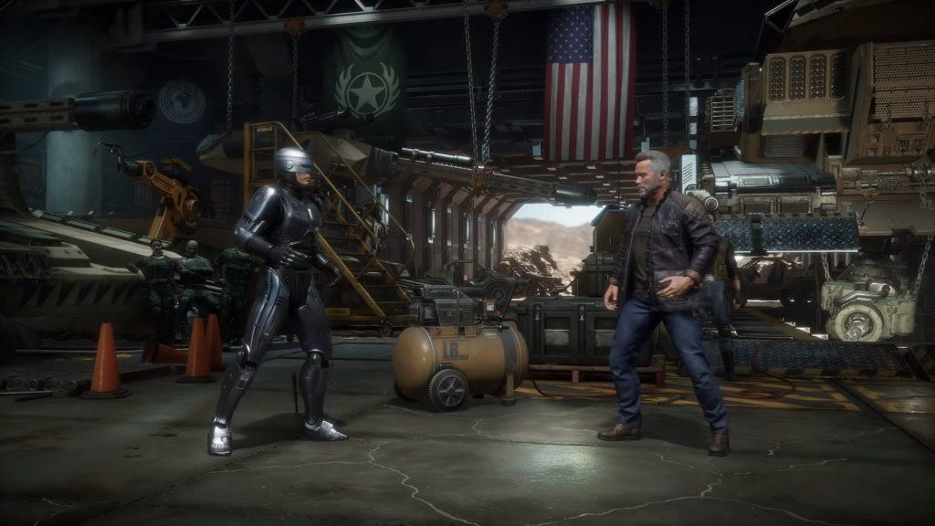 Смотрите как Робокоп сражается с Терминатором в Mortal Kombat 11