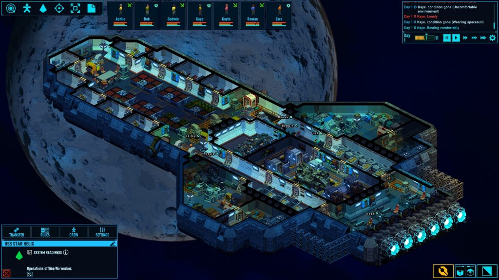 Space Haven – многообещающий симулятор менеджмента про космических путешественников